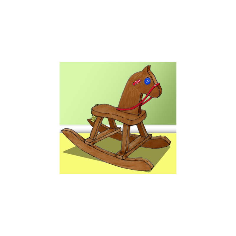 Rocking Horse Home Framed Fine Art Print by