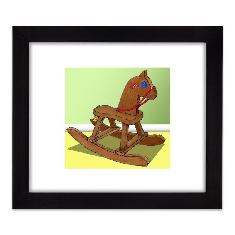 Rocking Horse Home Framed Fine Art Print by
