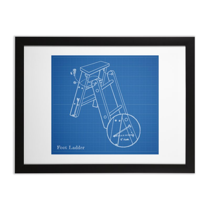 Step Ladder Design Home Framed Fine Art Print by