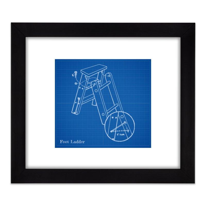 Step Ladder Design Home Framed Fine Art Print by