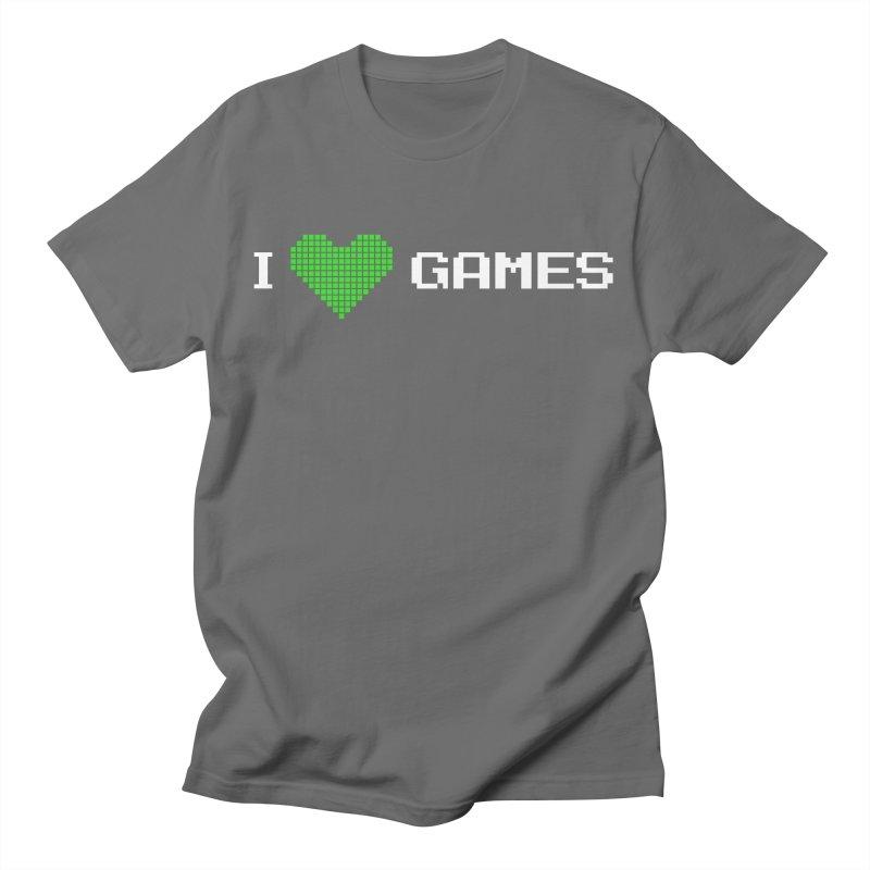 I LOVE Games Men's T-Shirt by Greenheart Games Merch