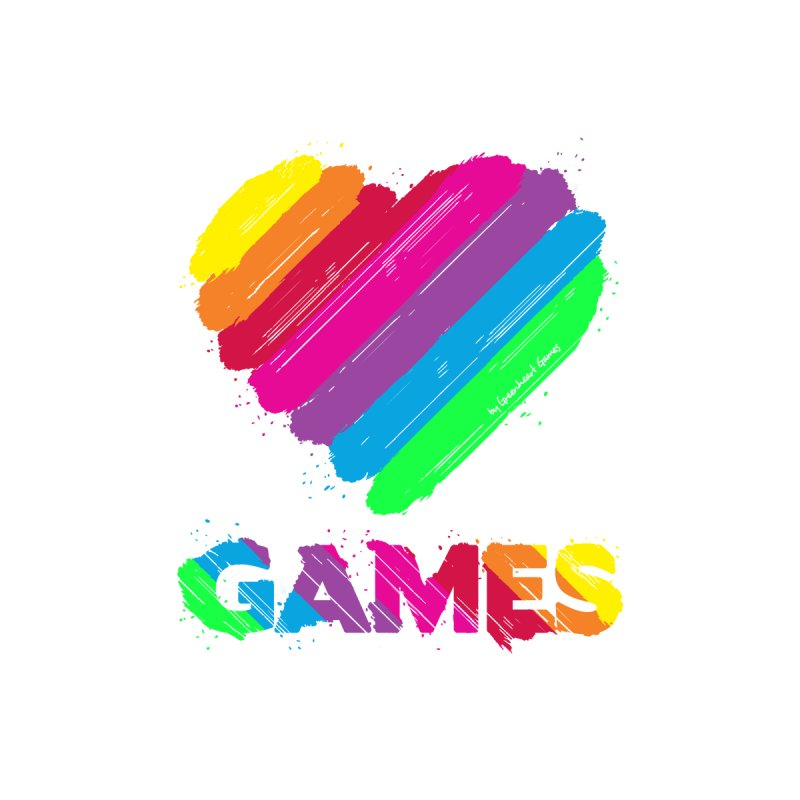 Love Games (Rainbow) Men's T-Shirt by Greenheart Games Merch