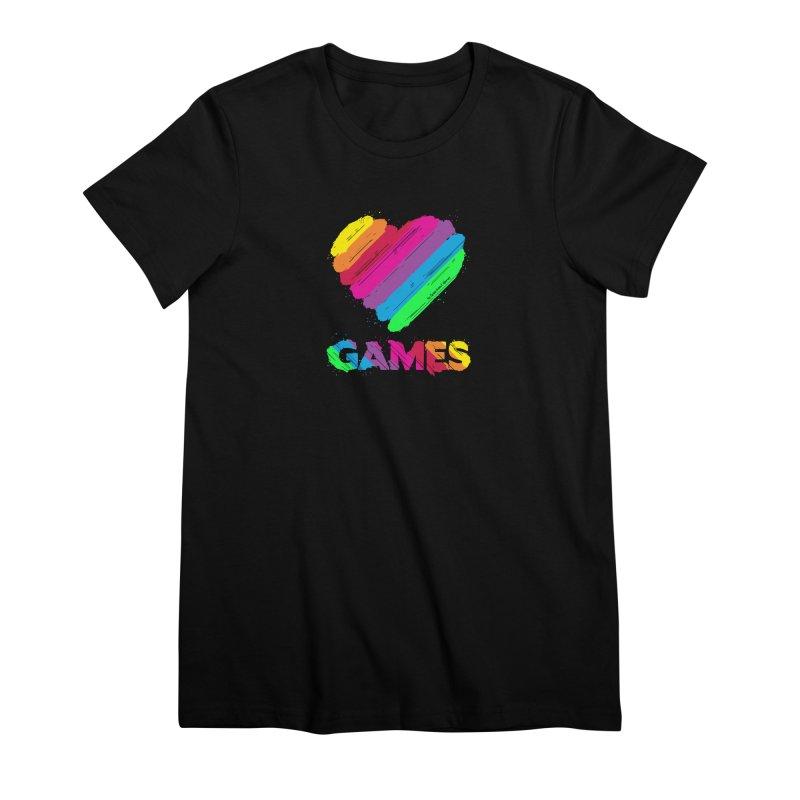 Love Games (Rainbow) Women's T-Shirt by Greenheart Games Merch