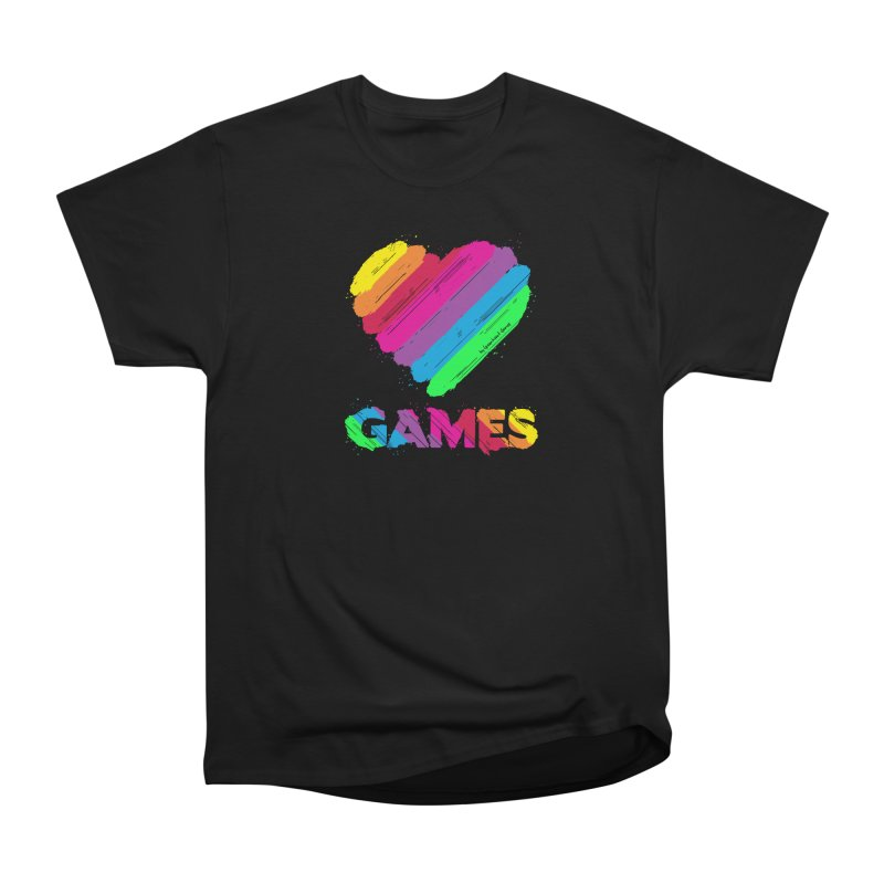 Love Games (Rainbow) Men's T-Shirt by Greenheart Games Merch