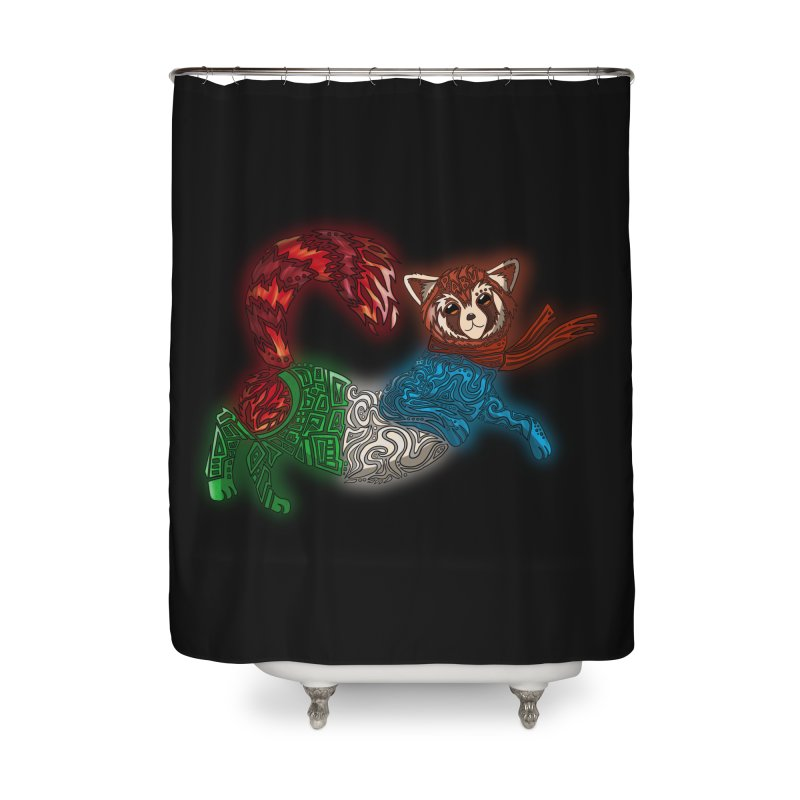 FIRE FERRET Home Shower Curtain by greenlambart's Artist Shop