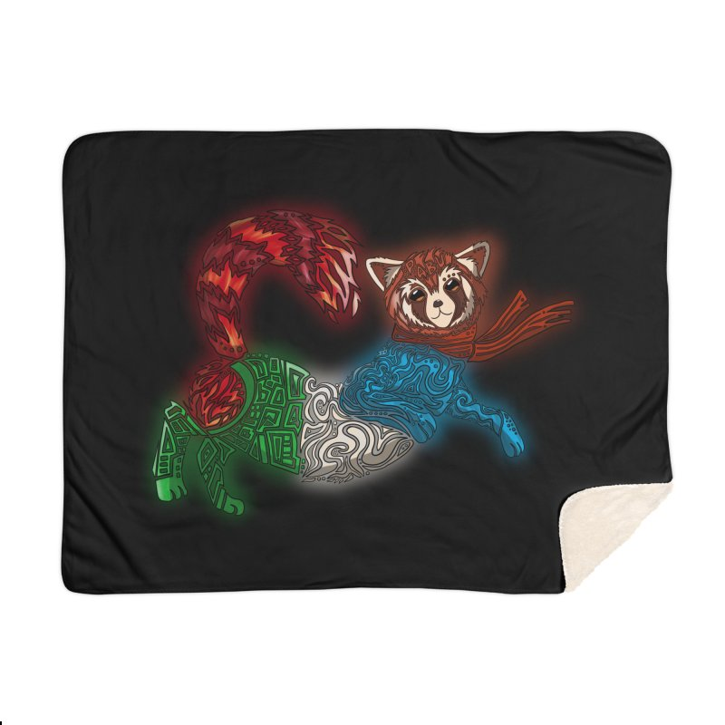 FIRE FERRET Home Blanket by greenlambart's Artist Shop