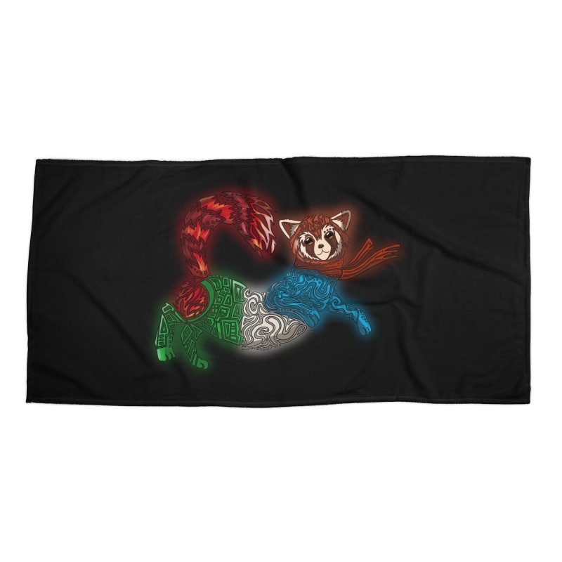 FIRE FERRET Accessories Beach Towel by greenlambart's Artist Shop