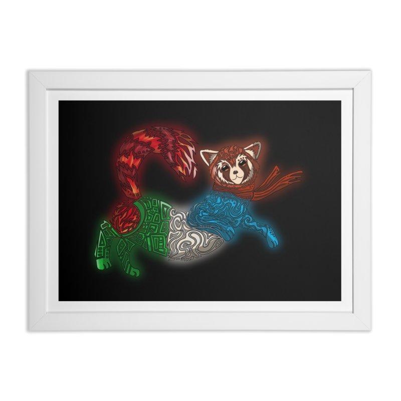 FIRE FERRET Home Framed Fine Art Print by greenlambart's Artist Shop