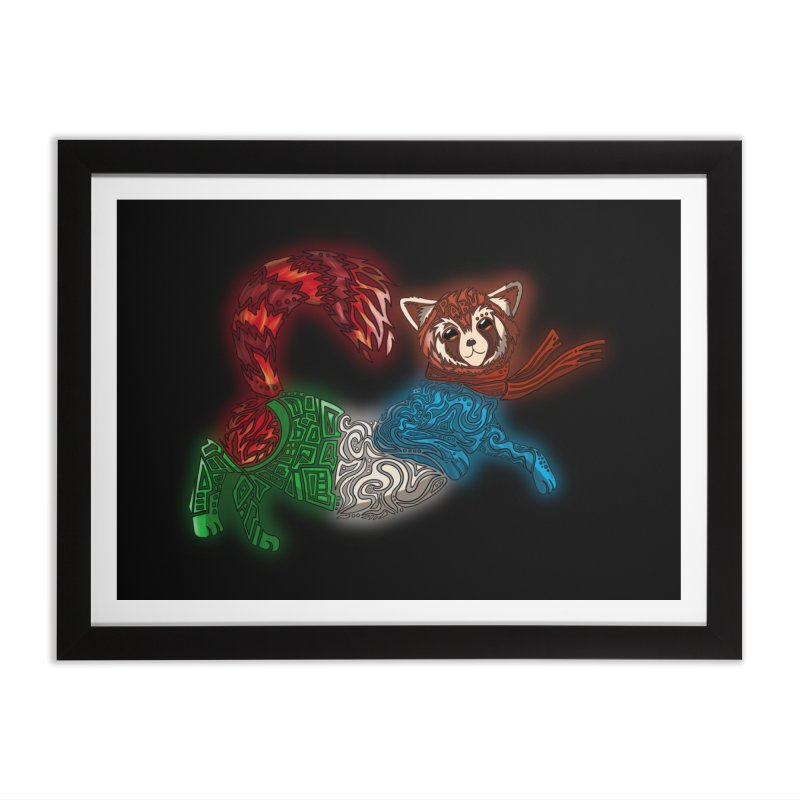 FIRE FERRET Home Framed Fine Art Print by greenlambart's Artist Shop