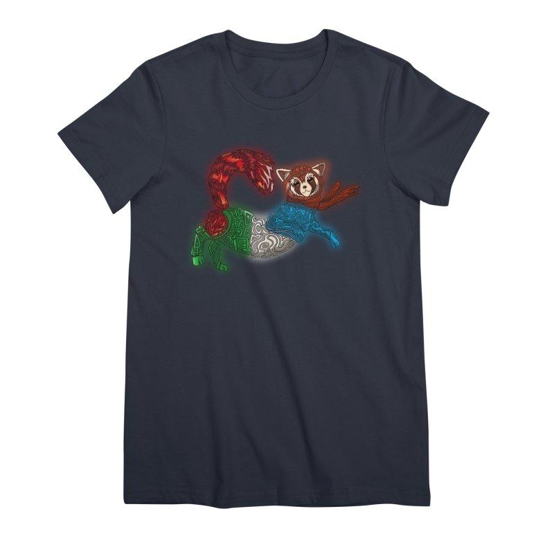 FIRE FERRET Women's Premium T-Shirt by greenlambart's Artist Shop