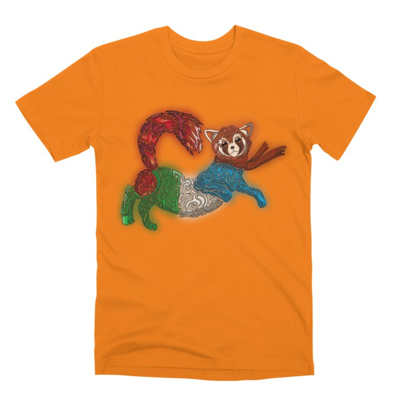 FIRE FERRET Men's T-Shirt by greenlambart's Artist Shop