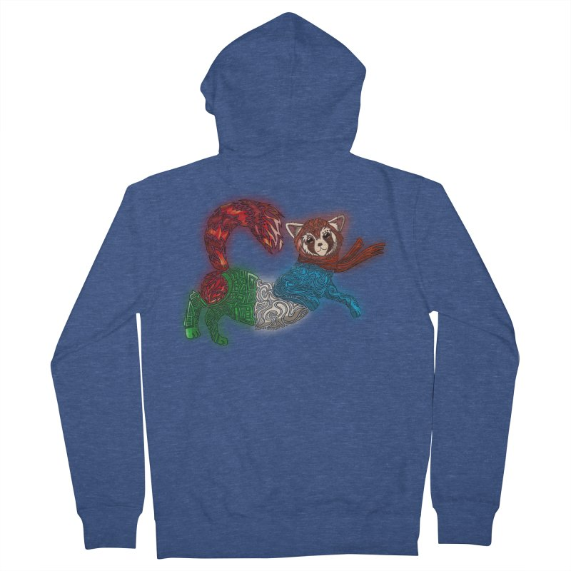 FIRE FERRET Men's Zip-Up Hoody by greenlambart's Artist Shop