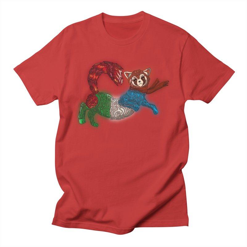 FIRE FERRET Men's Regular T-Shirt by greenlambart's Artist Shop