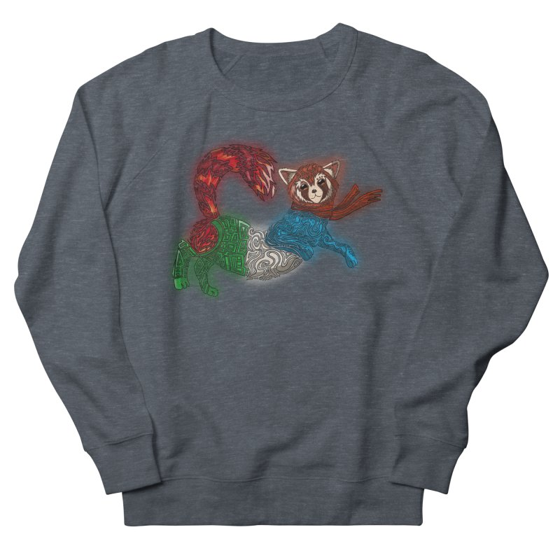 FIRE FERRET Women's French Terry Sweatshirt by greenlambart's Artist Shop
