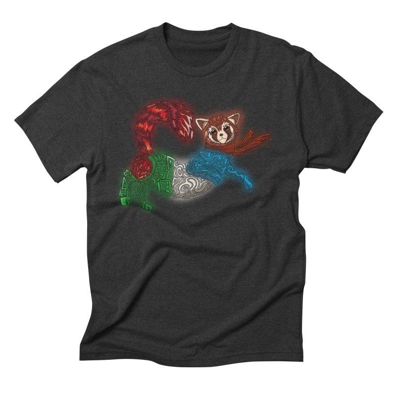 FIRE FERRET Men's Triblend T-Shirt by greenlambart's Artist Shop