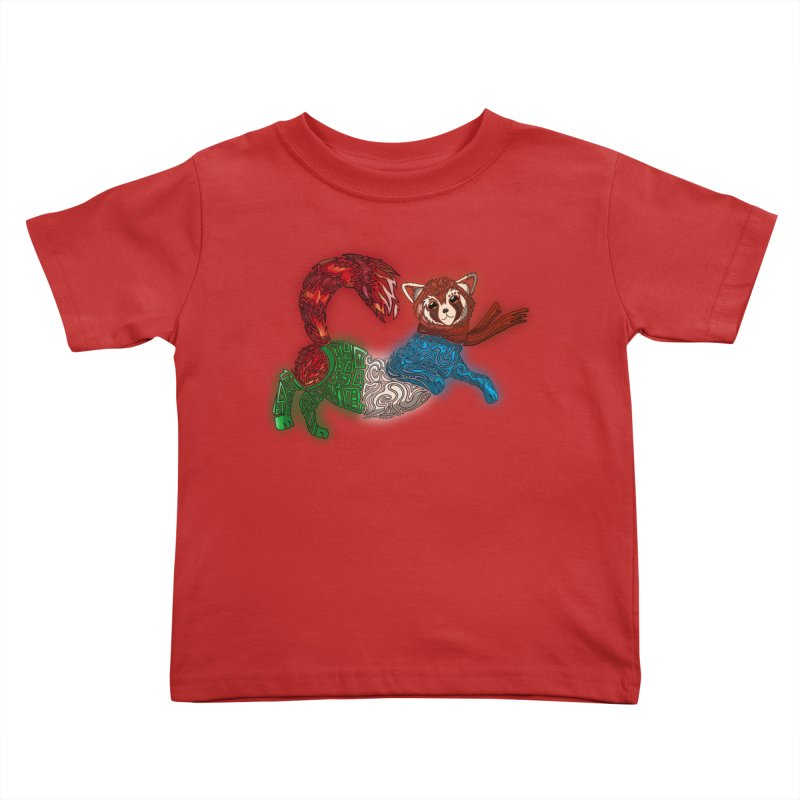 FIRE FERRET Kids Toddler T-Shirt by greenlambart's Artist Shop