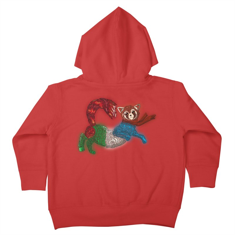 FIRE FERRET Kids Toddler Zip-Up Hoody by greenlambart's Artist Shop
