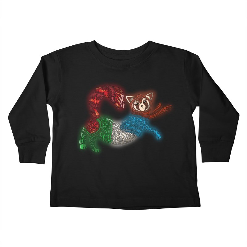 FIRE FERRET Kids Toddler Longsleeve T-Shirt by greenlambart's Artist Shop