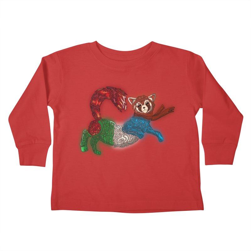 FIRE FERRET Kids Toddler Longsleeve T-Shirt by greenlambart's Artist Shop