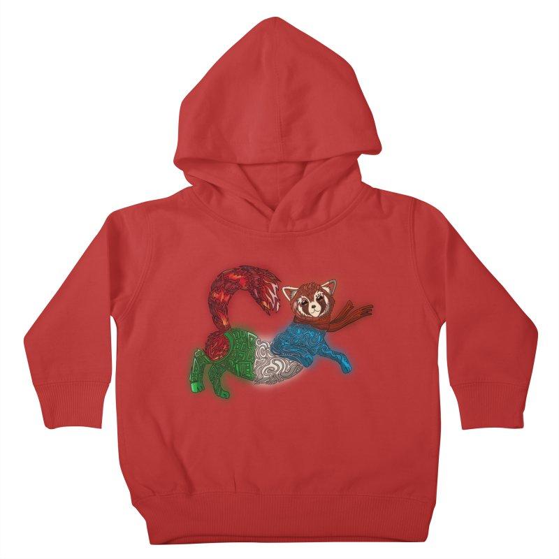 FIRE FERRET Kids Toddler Pullover Hoody by greenlambart's Artist Shop