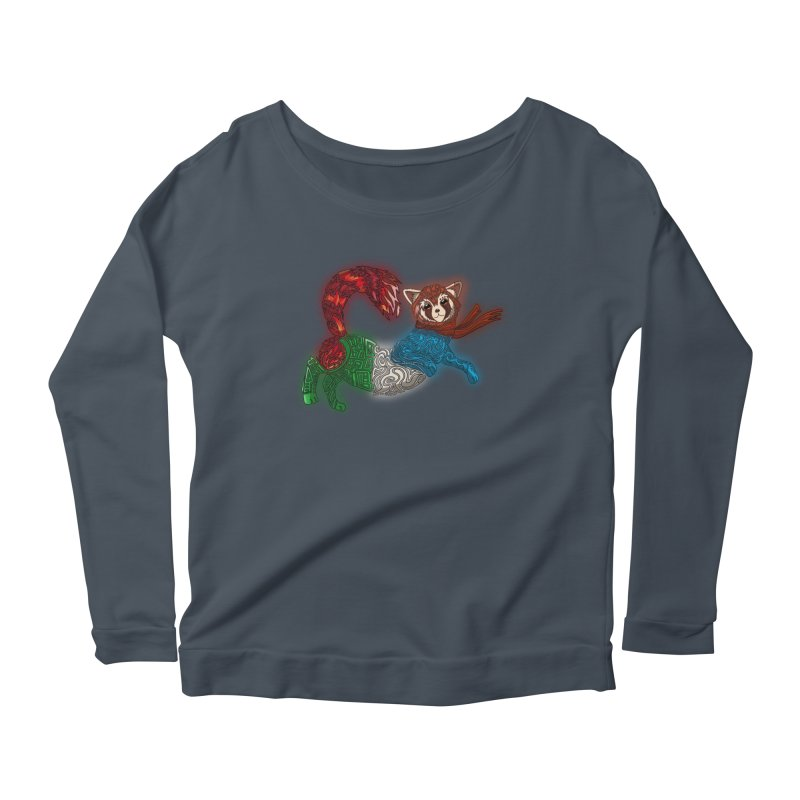 FIRE FERRET Women's Scoop Neck Longsleeve T-Shirt by greenlambart's Artist Shop