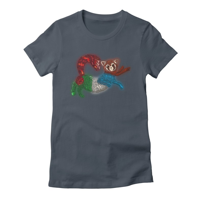 FIRE FERRET Women's T-Shirt by greenlambart's Artist Shop