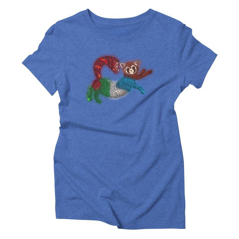 FIRE FERRET Women's Triblend T-Shirt by greenlambart's Artist Shop
