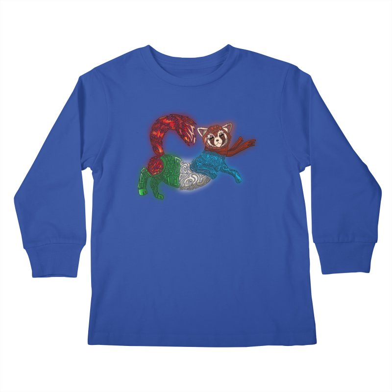 FIRE FERRET Kids Longsleeve T-Shirt by greenlambart's Artist Shop