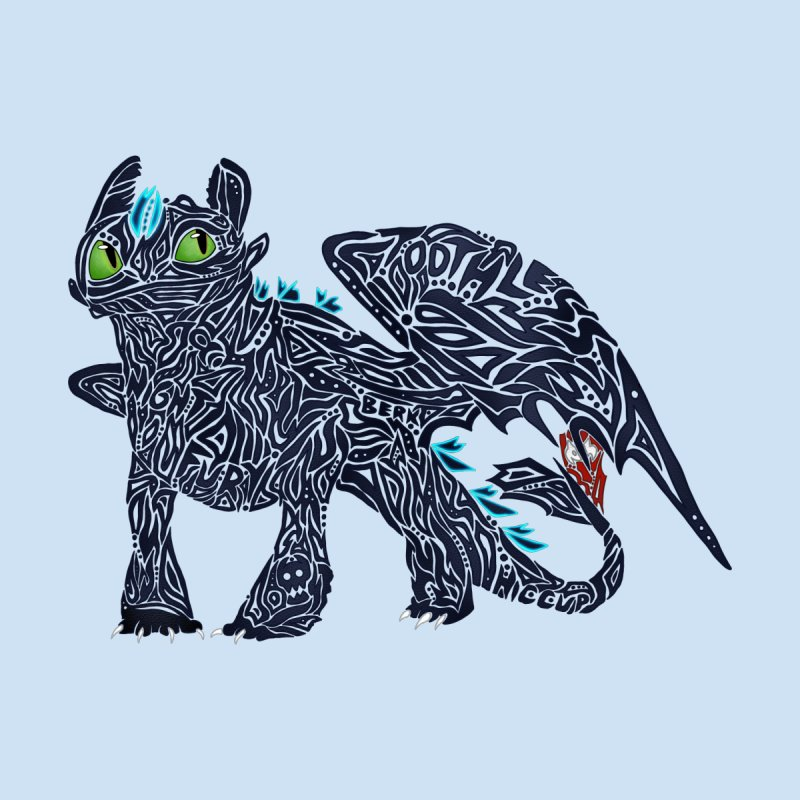 TOOTHLESS Home Duvet by greenlambart's Artist Shop