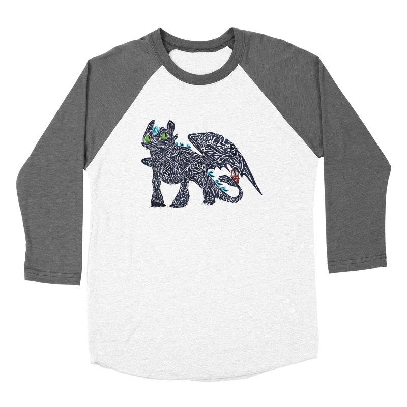 TOOTHLESS Women's Baseball Triblend Longsleeve T-Shirt by greenlambart's Artist Shop