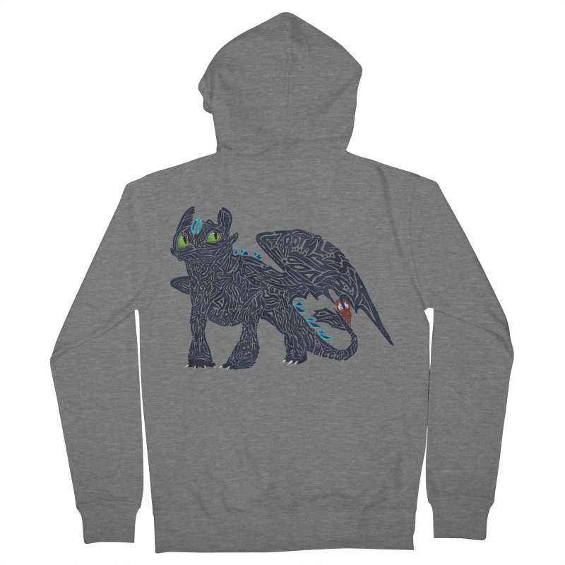 TOOTHLESS Men's Zip-Up Hoody by greenlambart's Artist Shop