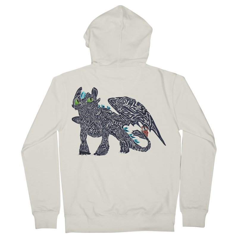 TOOTHLESS Men's French Terry Zip-Up Hoody by greenlambart's Artist Shop