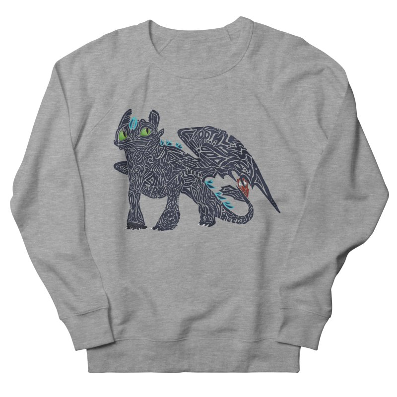 TOOTHLESS Men's French Terry Sweatshirt by greenlambart's Artist Shop