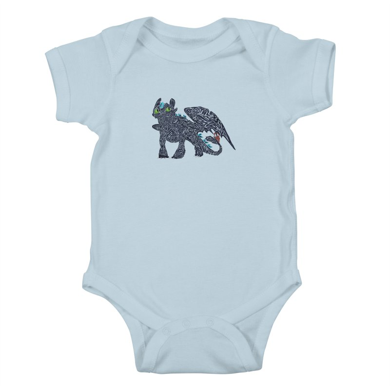 TOOTHLESS Kids Baby Bodysuit by greenlambart's Artist Shop