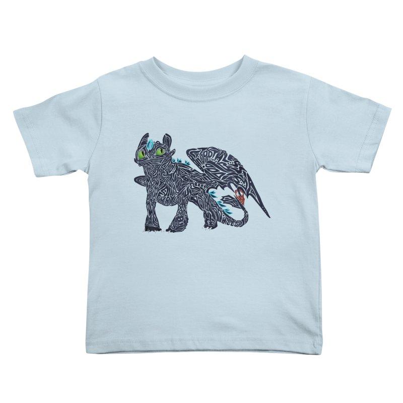 TOOTHLESS Kids Toddler T-Shirt by greenlambart's Artist Shop