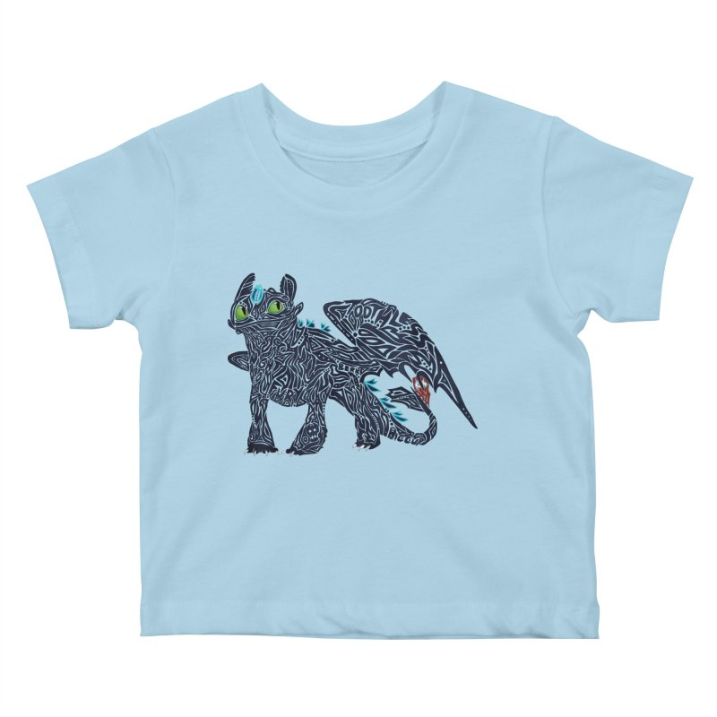 TOOTHLESS Kids Baby T-Shirt by greenlambart's Artist Shop