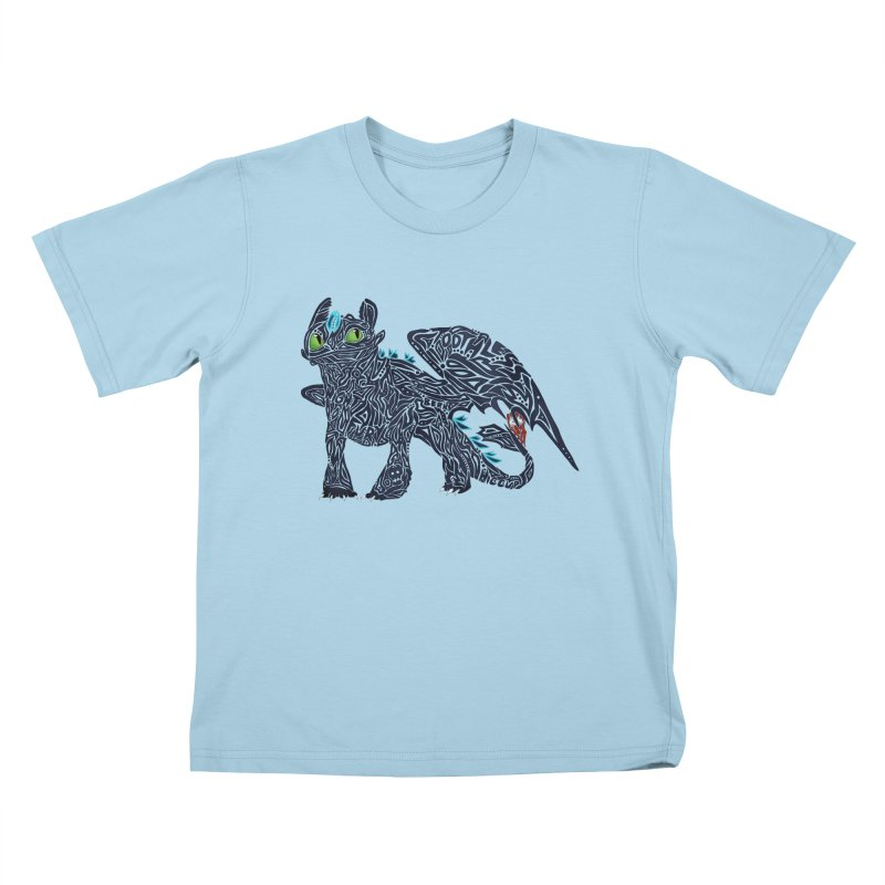 TOOTHLESS Kids T-Shirt by greenlambart's Artist Shop