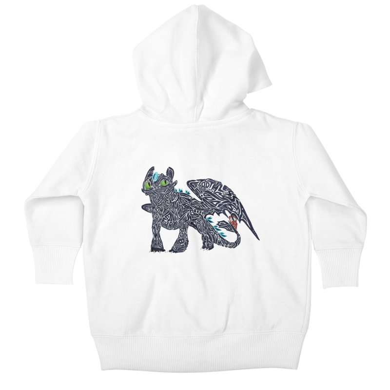 TOOTHLESS Kids Baby Zip-Up Hoody by greenlambart's Artist Shop