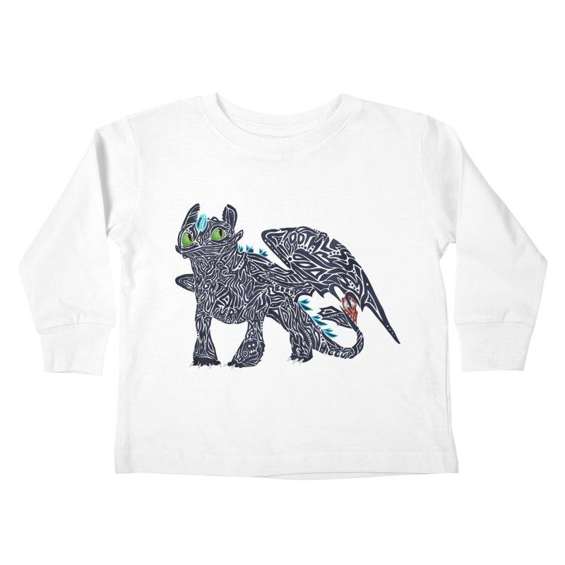 TOOTHLESS Kids Toddler Longsleeve T-Shirt by greenlambart's Artist Shop
