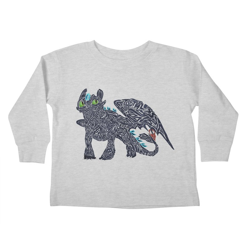 TOOTHLESS Kids Toddler Longsleeve T-Shirt by greenlambart's Artist Shop