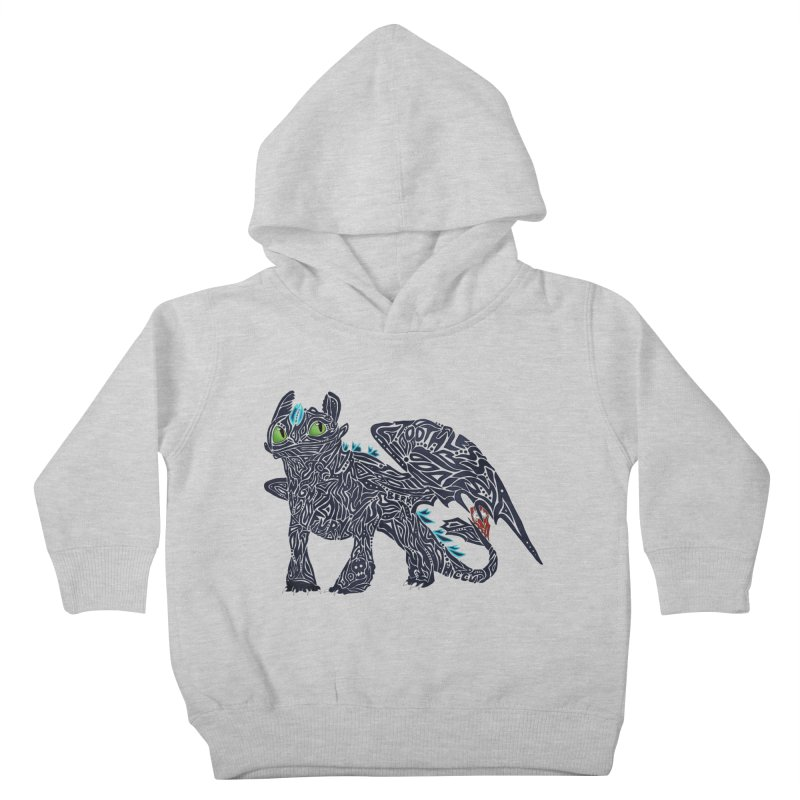 TOOTHLESS Kids Toddler Pullover Hoody by greenlambart's Artist Shop