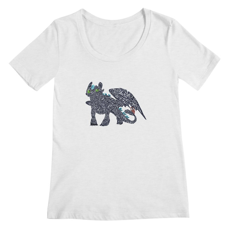 TOOTHLESS Women's Scoop Neck by greenlambart's Artist Shop