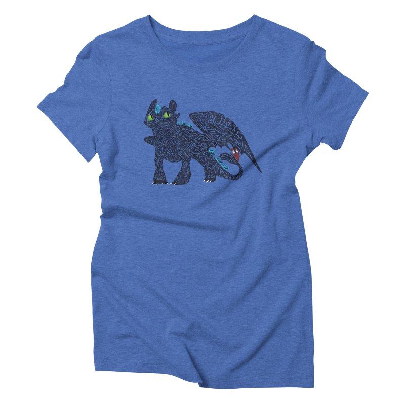TOOTHLESS Women's Triblend T-Shirt by greenlambart's Artist Shop