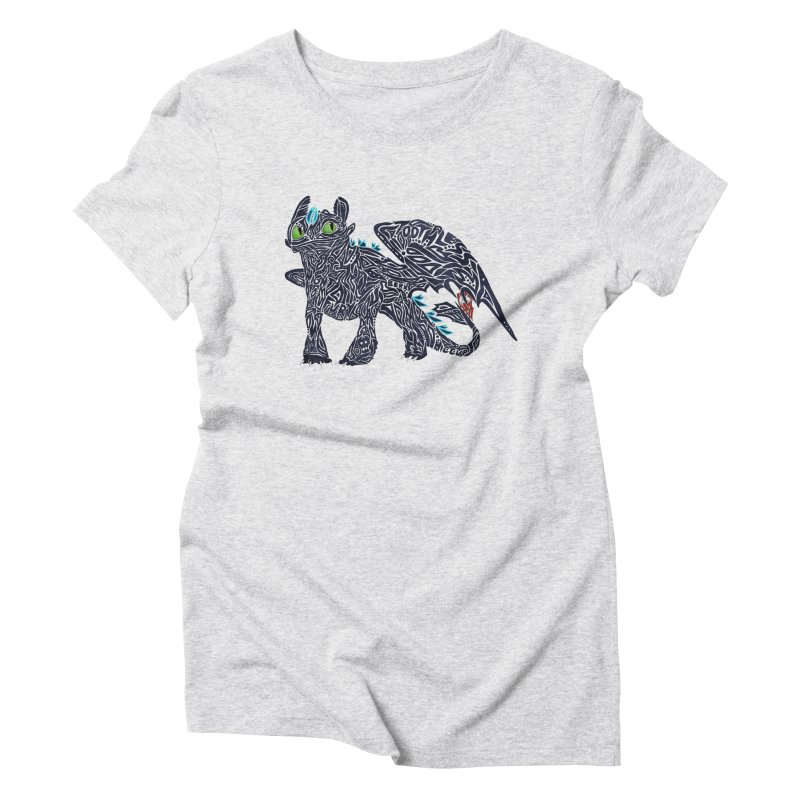 TOOTHLESS Women's T-Shirt by greenlambart's Artist Shop