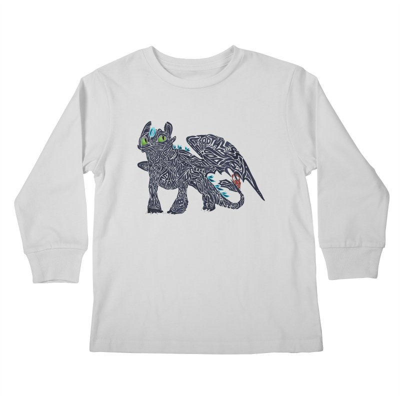 TOOTHLESS Kids Longsleeve T-Shirt by greenlambart's Artist Shop