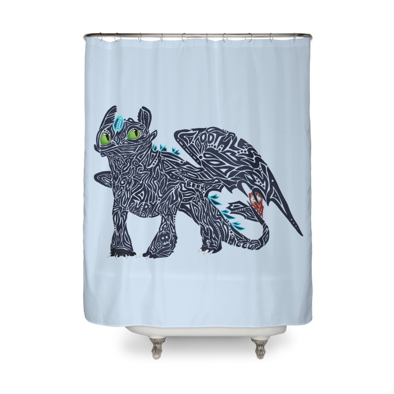 TOOTHLESS Home Shower Curtain by greenlambart's Artist Shop
