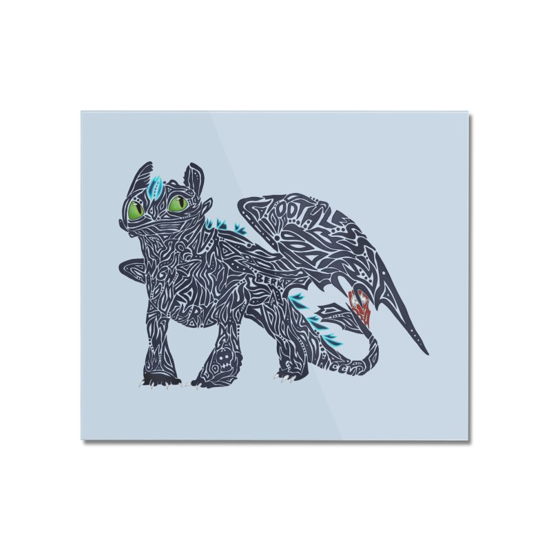 TOOTHLESS Home Mounted Acrylic Print by greenlambart's Artist Shop