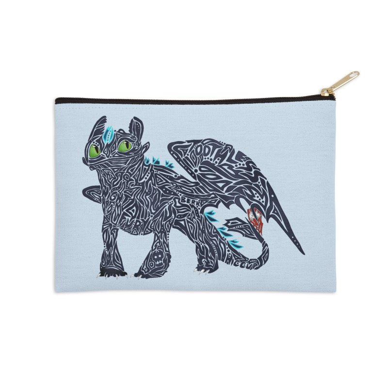 TOOTHLESS Accessories Zip Pouch by greenlambart's Artist Shop