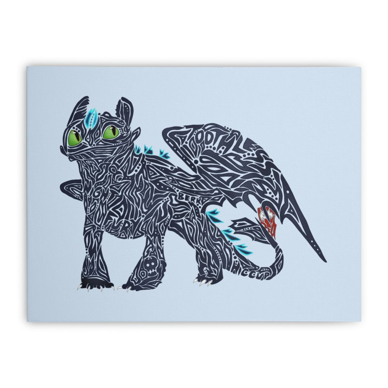 TOOTHLESS Home Stretched Canvas by greenlambart's Artist Shop