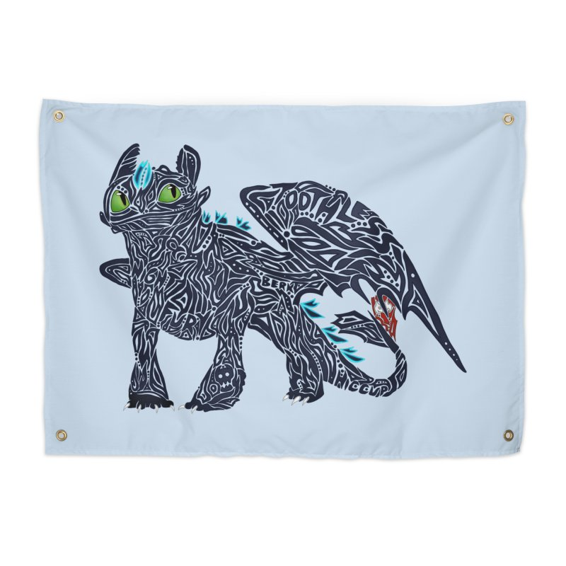 TOOTHLESS Home Tapestry by greenlambart's Artist Shop